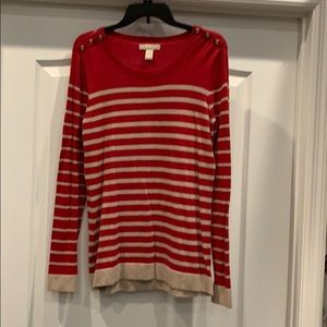 Banana Republic red & gold sweater